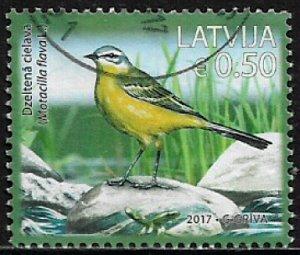Latvia #968 Used Stamp - Bird (c)