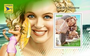 HERRICKSTAMP NEW ISSUES CENTRAL AFRICA Marilyn Monroe S/S