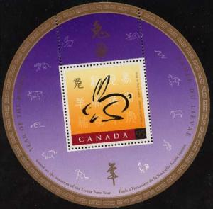 Canada - 1999 Year of the Rabbit Souv. Sheet CHINA 99 USC #1768i Mint VF-NH