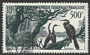 French Equatorial Africa #C37 Used Single Stamp cv $4