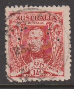 Australia Sc#104 Used Perfin OS