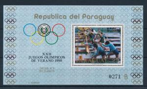 [60998] Paraguay 1979 Olympic games Moscow Canoeing MNH Sheet