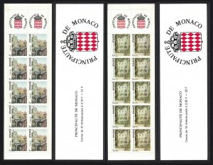 Monaco Old Monaco 2nd series Paintings by Claude Rosticher 2v Unfolded Booklets