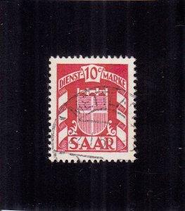 Saar: Sc #O27, Used (S18171)