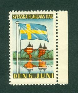 Sweden. Poster Stamp Mnh. 1937. National Day June 6. Swedish Flag.