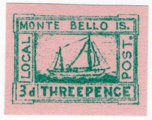 (I.B) Australia Cinderella : Monte Bello Islands Local Post 3d