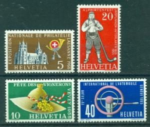 Switzerland #351-354  Mint  VF  LH  Scott $2.25