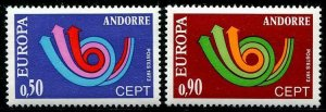 HERRICKSTAMP ANDORRA-FRENCH Sc.# 219-20 Europa NH Stamps Cat. Value $20.00