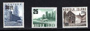 NORFOLK ISLAND  SC# 26-28  FVF/MLH