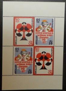 Netherlands Antilles B144a. 1977 Bridge souvenir sheet, NH