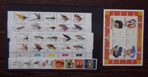 Transkei 1977 1983 sets Fishing Flies Xhosa + M/S Plants Independence MNH