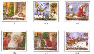 Guernsey Sc 810-5 2003 Christmas stamp set used