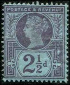 Great Britain SC# 114 Victoria 2-1/2d  Mint Hinged