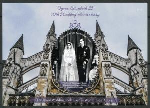ST. VINCENT GRENADINES 2017 70th WEDDING ANN OF QUEEN ELIZABETH II S/S  MINT NH