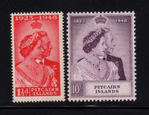 Pitcairn Island 1948 Silver Wedding Sc 11-12 MNH