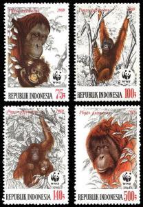 Indonesia WWF Orangutan 4v SG#1920-1923 MI#1291-1294 SC#1380-1383