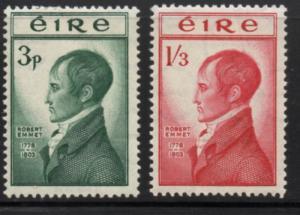 Ireland Sc 149-50 1953 Robert Emmet stamp set mint