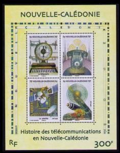 New Caledonia History of Telecommunications MS SG#1452 MI#1469-1472