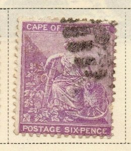 Cape of Good Hope 1882-83 Early Issue Fine Used 6d. 326710