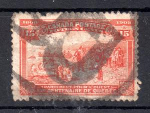 Canada 1908 Quebec 15c SG194 used faults WS10670