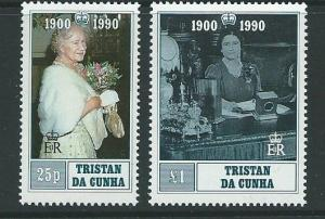 TRISTAN DA CUNHA SG498/9 1990 90th BIRTHDAY OF QUEEN MOTHER MNH