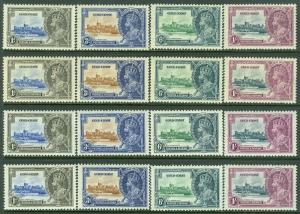 EDW1949SELL : GOLD COAST 1935 Sc #108-11 Silver Jubilee 4 sets VF MOGH Cat $137