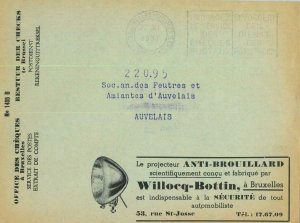 93161 - BELGIUM - POSTAL HISTORY - Advertising CHEQUES COVER 1937 Autos MEDICINE