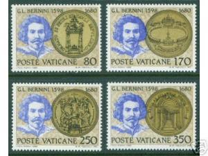 VATICAN Scott 673-6 MNH** 1980 Bernini Set CV $1.35