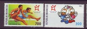 J25095 JLstamps 1994 indonesia set mnh #1589-90 sports
