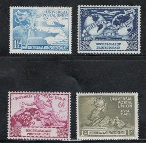 Bechuanaland 1949 UPU Omnibus Issue Scott # 149 - 152 MH