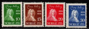 $Norway Sc#158-161 M/NH/VF, complete set, Cv. $90