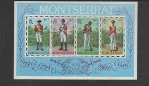 MONTSERRAT #396a  1978 UNIFORMS    MINT  VF NH  O.G  S/S