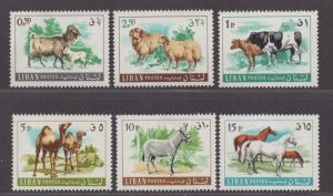 **Lebanon, SC# 453-458 MNH VF Complete Animal Set, CV $34.00