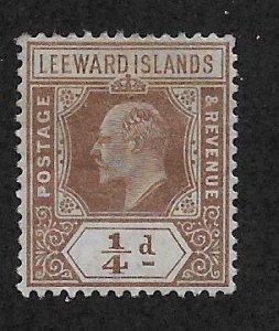 LEEWARD ISLANDS SC# 41  FVF/MOG 1909