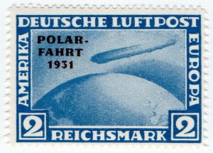 (I.B) Germany Postal : Air Mail 2RM Polar OP (reprint)