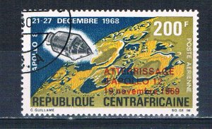 Central African Republic C81 Used Space capsule overprint 1970 (HV0227)