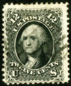 US Stamps # 69 Used VF light cancel deep color Scott Value $95.00
