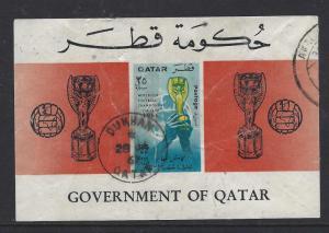 QATAR  (PP2609B)   FOOTBALL  SG MS 197 3 S/S   VFU
