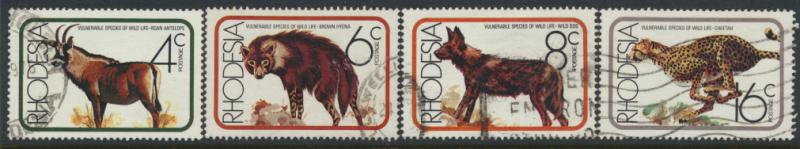 Rhodesia   SG 529 - 532  SC# 367 - 370  Used Vunerable Wildlife see details