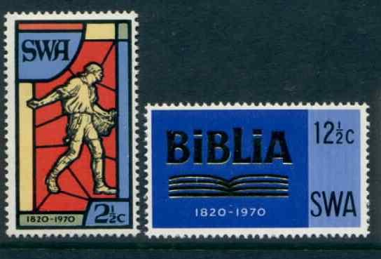 South West Africa 331-2 MNH Bible Society, Stained Glass