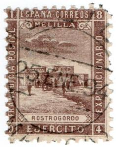 (I.B-CK) Spain Colonial Postal : Melilla Military Post (Fort Rostrogordo)