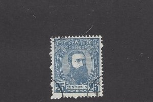 Belgium Congo, 8, King Leopold II Single, **Used** Z1
