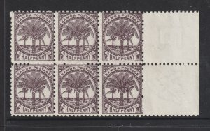Samoa a MNH block of 6 from 1895 perf 11