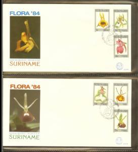 1984 - Rep. Surinam FDC E077AB - Flora - Flowers - Orchids [B33_091]