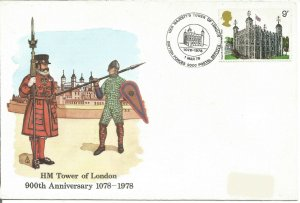 Tower Of London 900th Anniversary 1978 Commemorative First Day Cover BFPS U3128