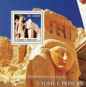 SAO TOME E PRINCIPE 2003 SHEET MONUMENTS OF EGYPT PYRAMIDS st3322