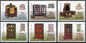 Korea 2007. Historic furniture (I) (MNH OG) Set of 6 stamps