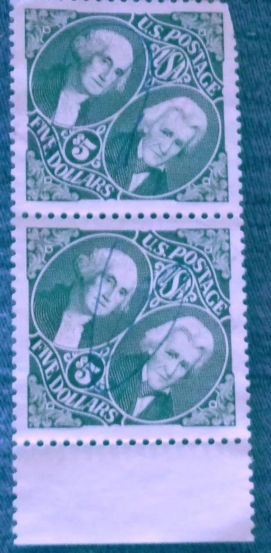 United States Used 2 Line Pair 5.00