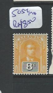 SARAWAK (P1401B) BROOKE 8C SG54    MNH
