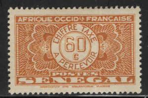 Senegal Scott J28 MH* 1935 postage due